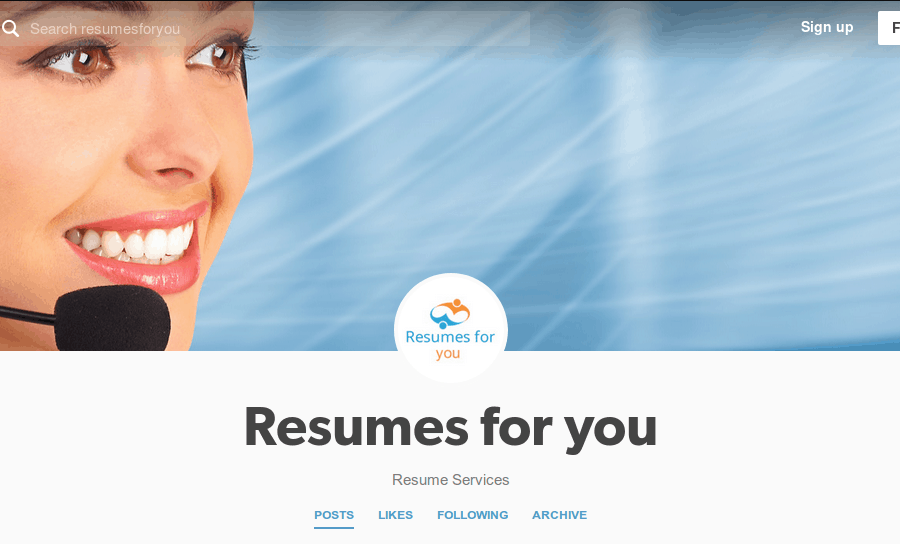 tumblr Resumes Services