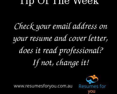 Tip of the week from Resumes For You