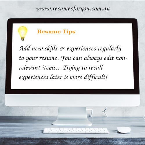 Resume Content Tips