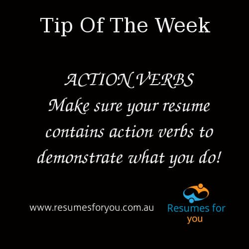 Action Verbs in your Resume