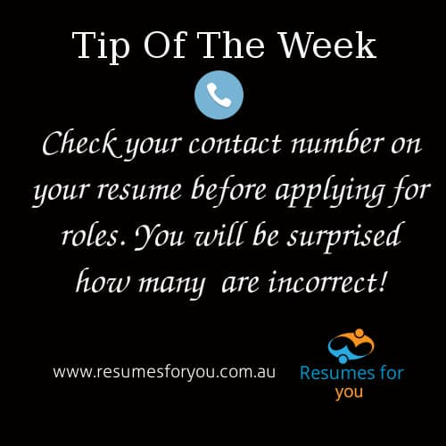ResumesForYou - Tip of the week
